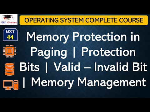 Memory Protection in Paging   Protection Bits   Valid – Invalid Bit