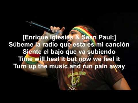 "[LYRICS]""   Súbeme La Radio (Sean Paul Remix)"" (feat. Sean Paul)"