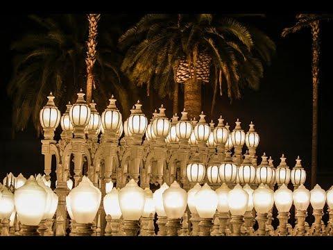 "360 time-lapse of Chris Burden's ""Urban Lights""   Los Angeles Times"