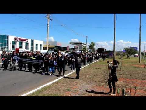 Cobertura dos atos em Congonhas e Brasília (TV SINA)