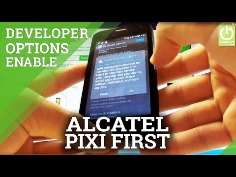 Enable USB Debugging in ALCATEL One Touch Pixi First - Developer Options