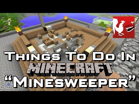 Things - Geoff and Jack and Fragger show you how to play Minesweeper in Minecraft for the Xbox 360.