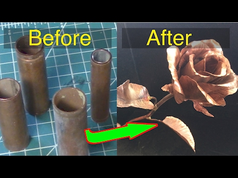 Making A Copper Rose - Silent Version.  FarmCraft101