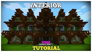 Minecraft: How To Build A Medieval House | Medieval Mansion Tutorial (Huge) 2016 (INTERIOR)