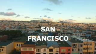 Film is made on a phantom 4. Sunset district view of San Francisco