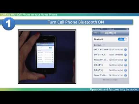 2013 Models - How to Link your Cell phone to your Panasonic Home Phone