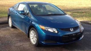 2012 Honda Civic Coupe Manual Review, Walk Around, Start Up&Rev, Test Drive
