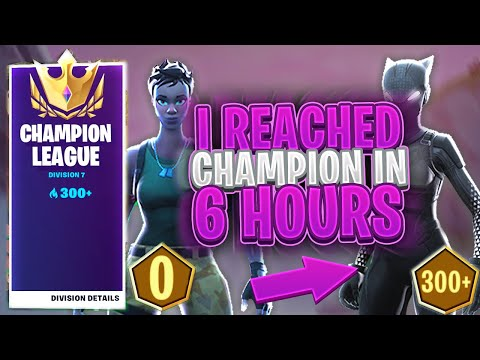 I Got To CHAMPION DIVISION In 6 HOURS On *CONTROLLER* (Fortnite Arena 0-300 Challenge)