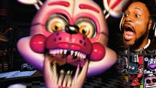 EVERY ANIMATRONIC EVER. (we're gonna die..) | FNAF: Ultimate Custom Night #1