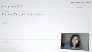 Partial Derivatives Example 6
