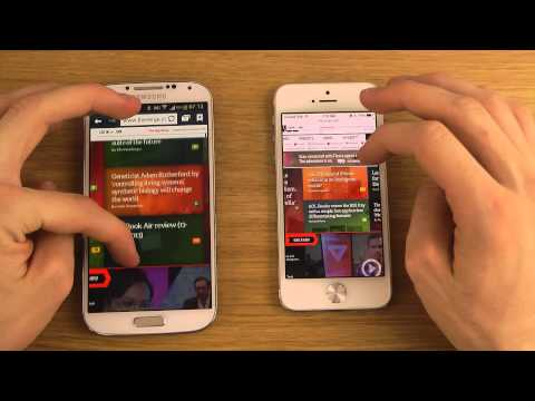 Samsung Galaxy S4 vs. iPhone 5 iOS 7 Beta 2 – Browser Speed Comparison Review