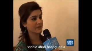 shahid afridi dual speak exposed ,in part of the video you can see him praising india in rest part of the video you can see him hating on india , i think he is a confused person