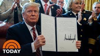 President Trump Vetoes Congressional Bill To Block Emergency Declaration | TODAY