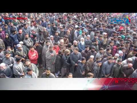 Thousands attend last rites of slain militant in Pulwama village