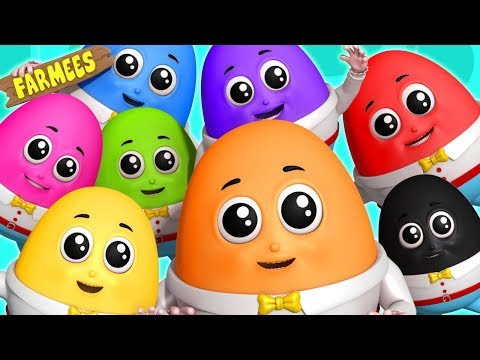 Humpty Dumpty Learning Color Cartoon For Childrens Nursery Rhymes Songs by Farmees