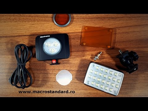 Comparatie lampa Kaiser #3286 SmartCluster Micro cu Manfrotto LED LUMIMUSE 3
