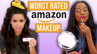 Testing Amazon's Worst Rated Makeup! (Beauty Break) by Clevver Style
