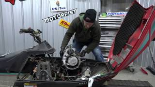 10. Snowmobile Bogging Series #2, engine tear down - 340 indy lite.