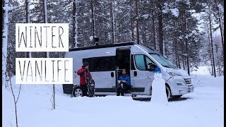 LET'S WINTER WILD CAMP | winter van living vlog