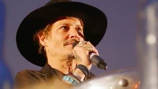 Whoa! Wee didn't see that coming. Careful Johnny. Johnny Depp made a crude joke about assassinating Donald Trump while over in England and the crowd totally ate it up!  Link- https://www.youtube.com/watch?v=YF4_CuHjXE8