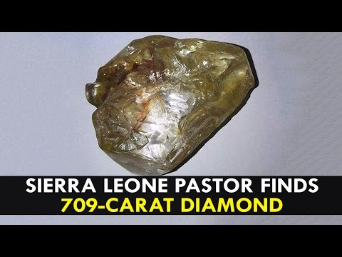 pastor finds 709-carat diamond