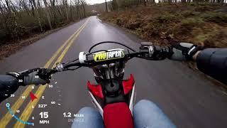1. Honda CRF230f speed GPS Overlay
