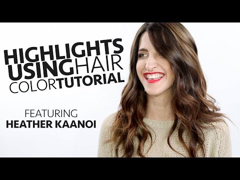 Highlight Tutorial using hair color  FALL COLOR TREND 2018