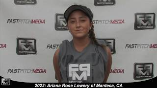 2022 Ariana Rose Lowery Slapper, Outfield and Second Base Softball Skills Video - Firecrackers