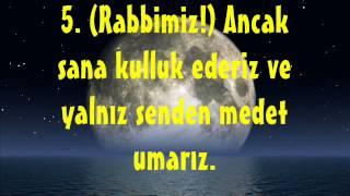 Abdurrahman Sudeys  Fatiha Süresi