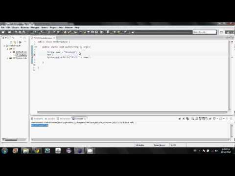 Java Tutorial – 5 – Variables (old Version)