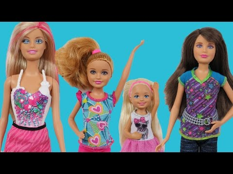Video DOLLHOUSE playing ! BARBIE,  Chelsea, Stacie and Skipper download in MP3, 3GP, MP4, WEBM, AVI, FLV January 2017