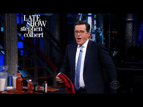 Stephen Colbert Attempts the Hot Ones Spicy Wing