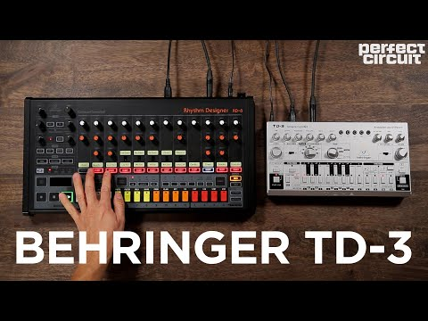 Behringer TD-3 Acid Synth With RD-8 Drum Machine and Source Audio Collider
