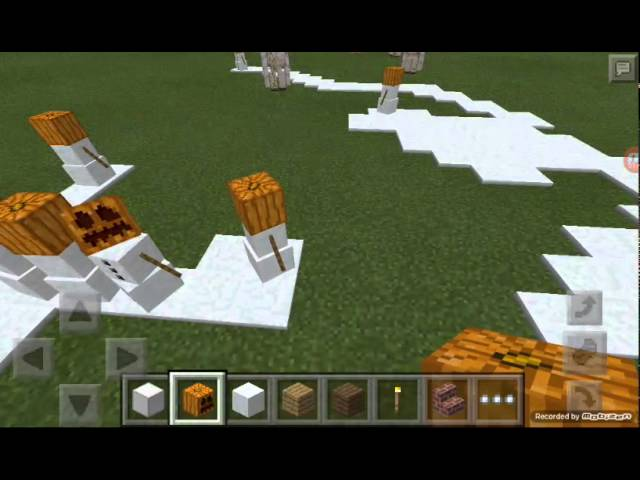 Cara Membuat Golem Dan Golem Salju Di Minecraft Pe