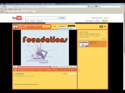 Part 5 - Copying the URL for your video