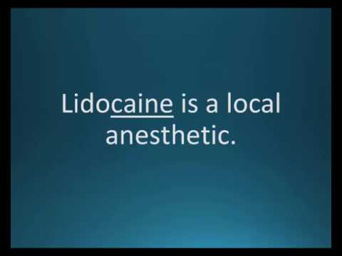 How to pronounce lidocaine (Lidoderm Patch, Xylocaine) (Memorizing Pharmacology Flashcard)