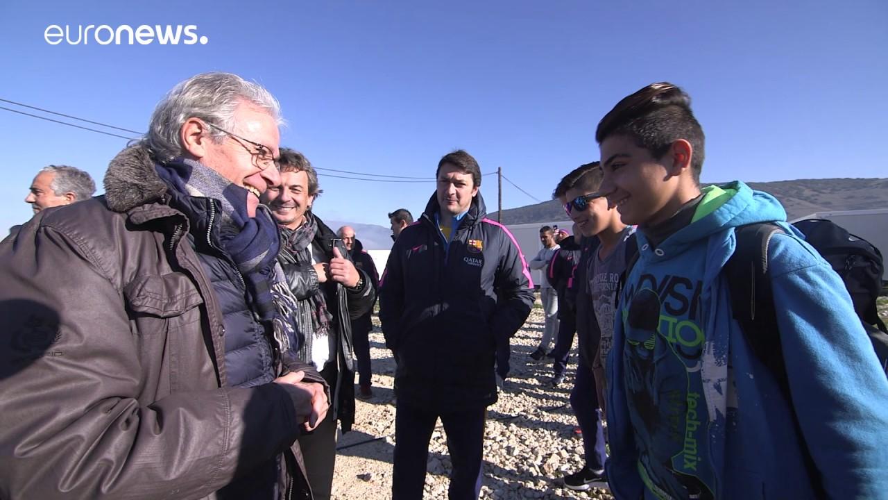 Η Μπαρτσελόνα δίπλα στους πρόσφυγες στα Ιωάννινα