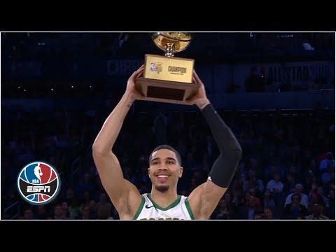 Video: Jayson Tatum sinks a half-court shot to win the 2019 NBA Skills Challenge | NBA All-Star 2019