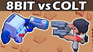 8 BIT vs  COLT | 1 VS 1 | Brawl Stars