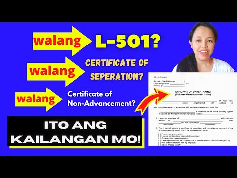 AFFIDAVIT OF UNDERTAKING (SSS MATERNITY BENEFIT REQUIREMENT) | MAE CAN