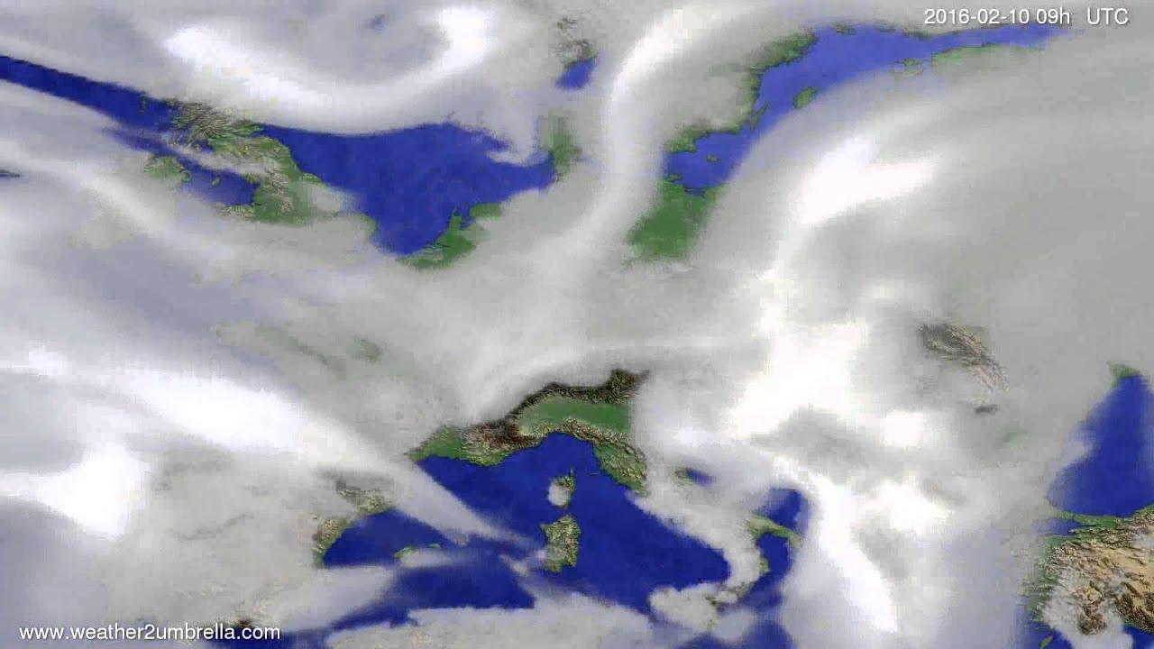 Cloud forecast Europe 2016-02-06