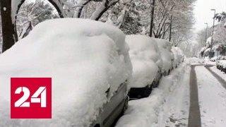 Аномальные морозы и снег пришли в Европу и США