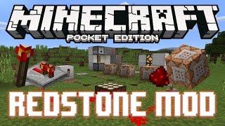 REDSTONE+ MOD - COMMAND BLOCKS!! Minecraft PE (Pocket Edition)