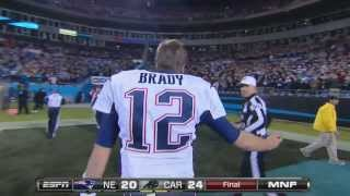 Tom Brady yelling at Refs at the end of the game
