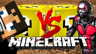 Minecraft: MUDDY LUCKY BLOCK CHALLENGE | Derp Crundee VS Ant-Man