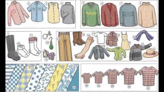 Describing clothing patterns material video