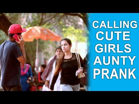 Calling Cute Girls 'AUNTY' Prank | Pranks in India | Trouble Seekers