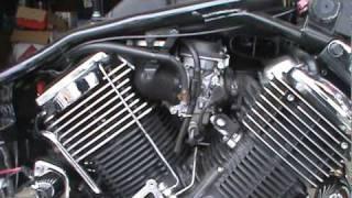 9. 2008 Yamaha V Star 1100 Hypercharger Install Part 1.mpg