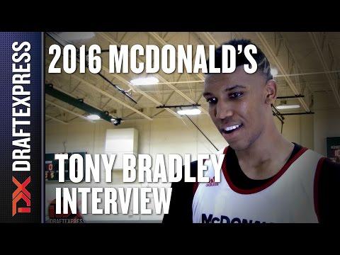 Tony Bradley - 2016 McDonalds All American Interview