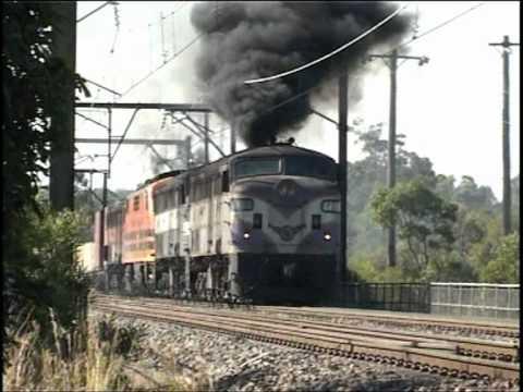 Vintage diesels NSW. Smoke belching locomotives